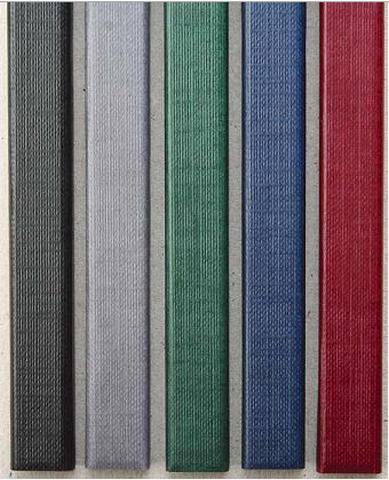Цветные каналы с покрытием «ткань» O.CHANNEL SLIM А4 304 мм 20 мм, синий фото