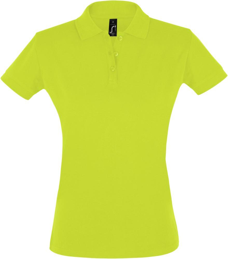 Рубашка поло женская PERFECT WOMEN 180 зеленое яблоко, размер M фото