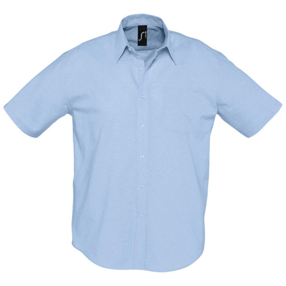 Фото - Рубашка мужская с коротким рукавом BRISBANE голубая, размер XL рубашка мужская с коротким рукавом brisbane голубая размер l