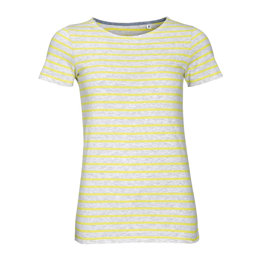 Футболка MILES WOMEN серый с желтым, размер XS футболка good story русалка с карманом серый xs