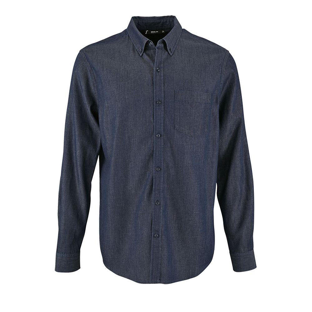 Рубашка мужская BARRY MEN синяя (деним), размер S barry white barry white stone gon