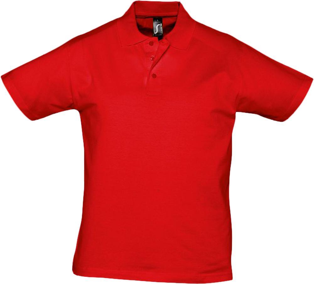 Рубашка поло мужская Prescott men 170 красная, размер XXL фото