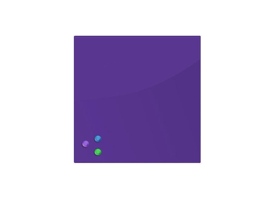 Фото - Brauberg 45x45 см, фиолетовая, 3 магнита (236743) кеды мужские vans ua sk8 mid цвет белый va3wm3vp3 размер 9 5 43
