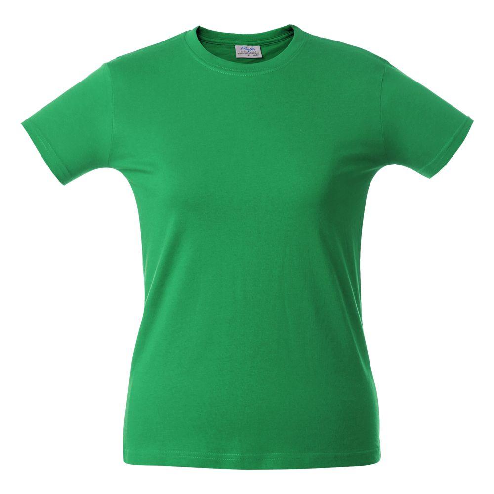 Футболка женская HEAVY LADY зеленая, размер L футболка женская oodji ultra цвет ментол 14707001 36 46154 6519p размер l 48