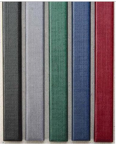 Цветные каналы с покрытием «ткань» O.CHANNEL SLIM А4 304 мм 32 мм, серый фото