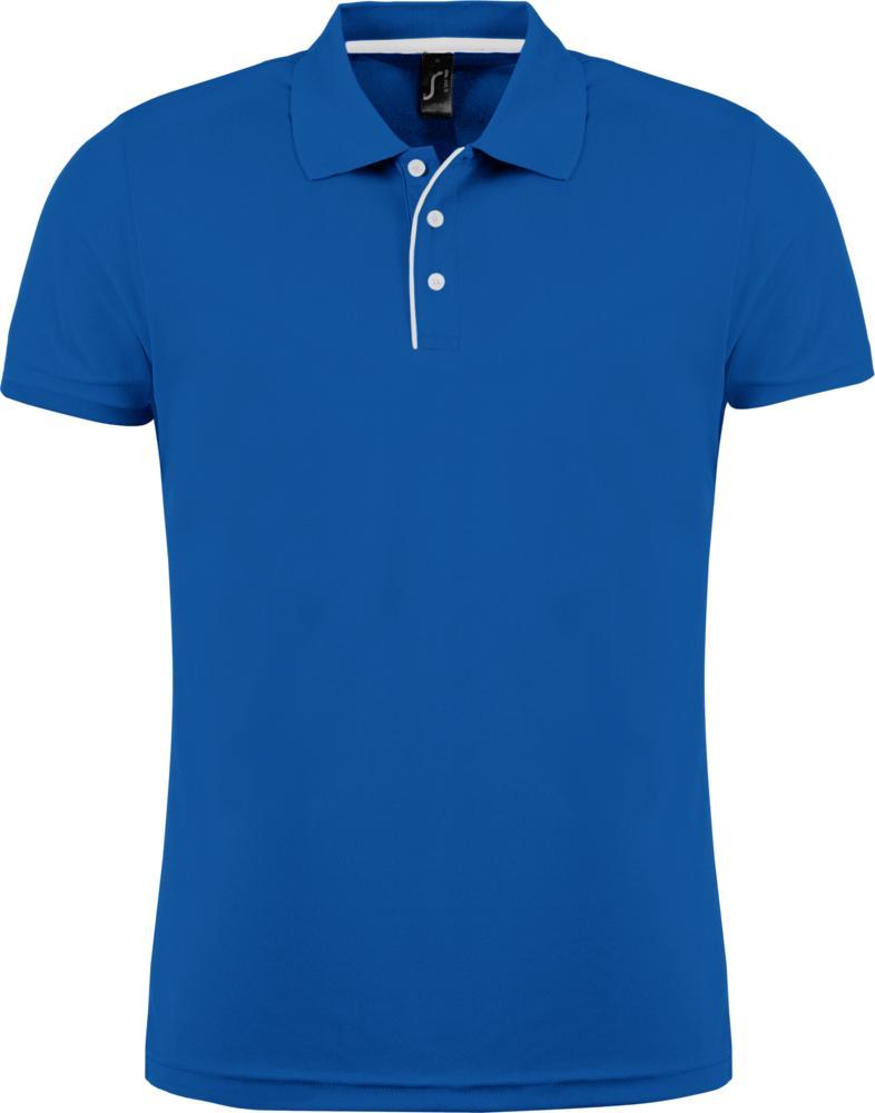 Рубашка поло мужская PERFORMER MEN 180 ярко-синяя, размер 3XL фото