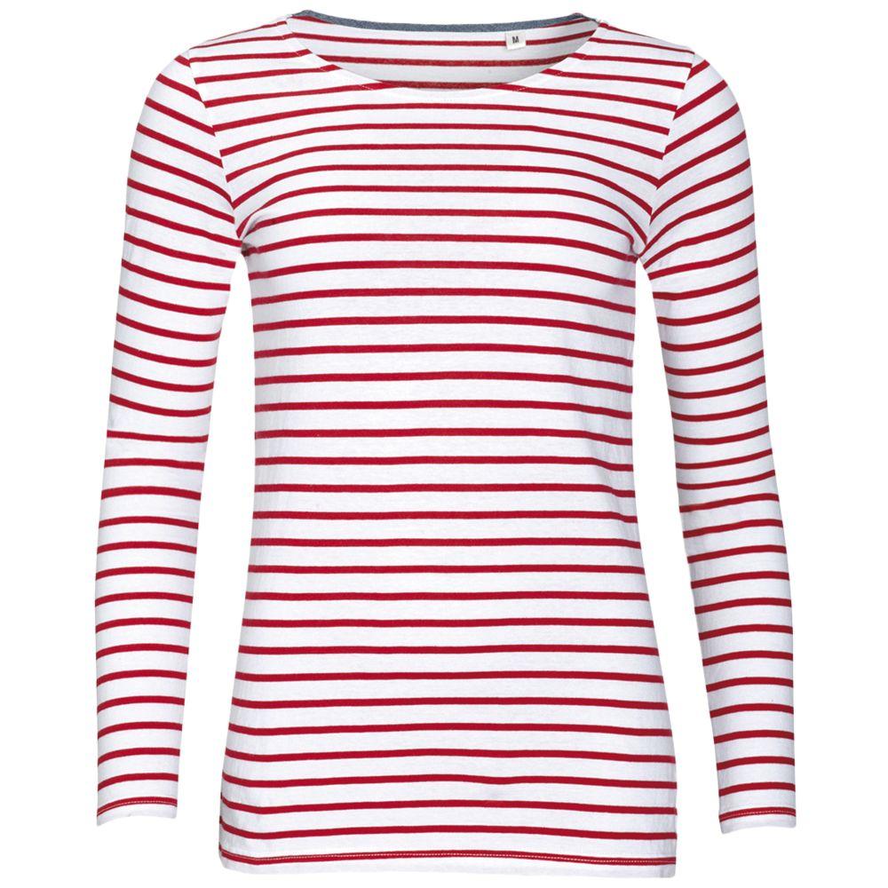 Футболка женская MARINE WOMEN, белый/красный, размер M блузка женская tom farr цвет белый tw7583 50802 1 coll размер m 46