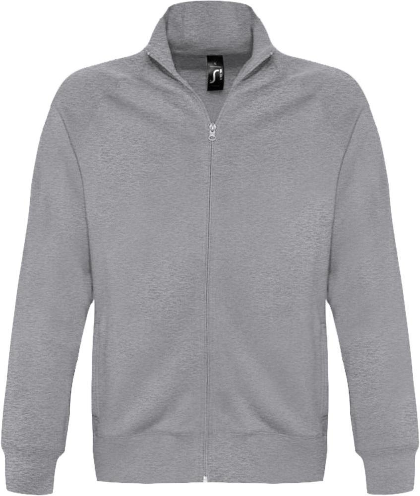 Толстовка мужская на молнии SUNDAE 280 серый меланж, размер XXL