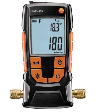 552 c Bluetooth анемометр с крыльчаткой testo 410 1 функция hold от 10 до 50 °c ±0 5 °c