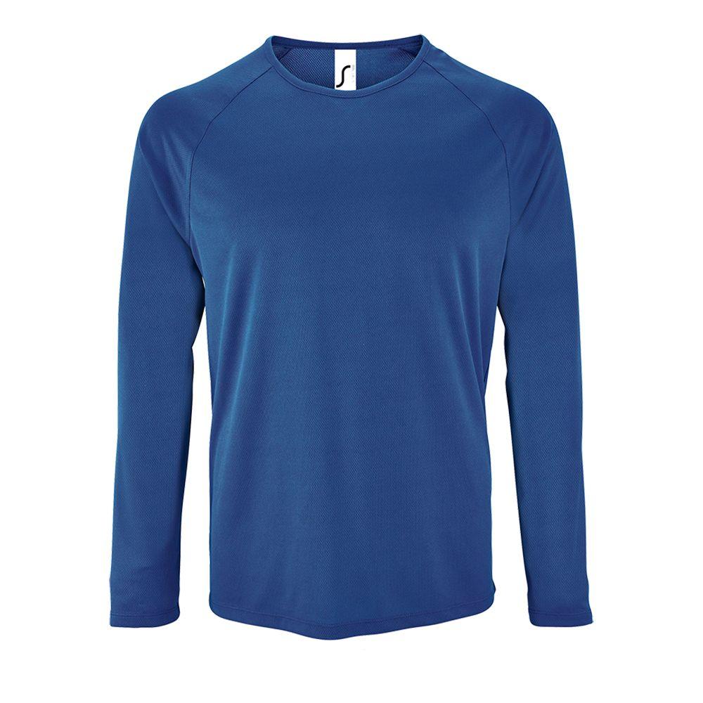 Футболка с длинным рукавом SPORTY LSL MEN ярко-синяя, размер XXL