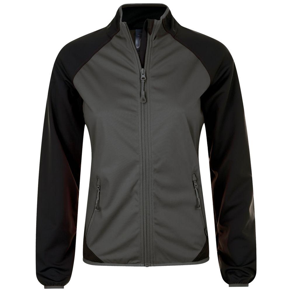 Куртка софтшелл женская ROLLINGS WOMEN темно-серый/черный, размер M куртка женская elfina цвет черный 88057 100 размер 44