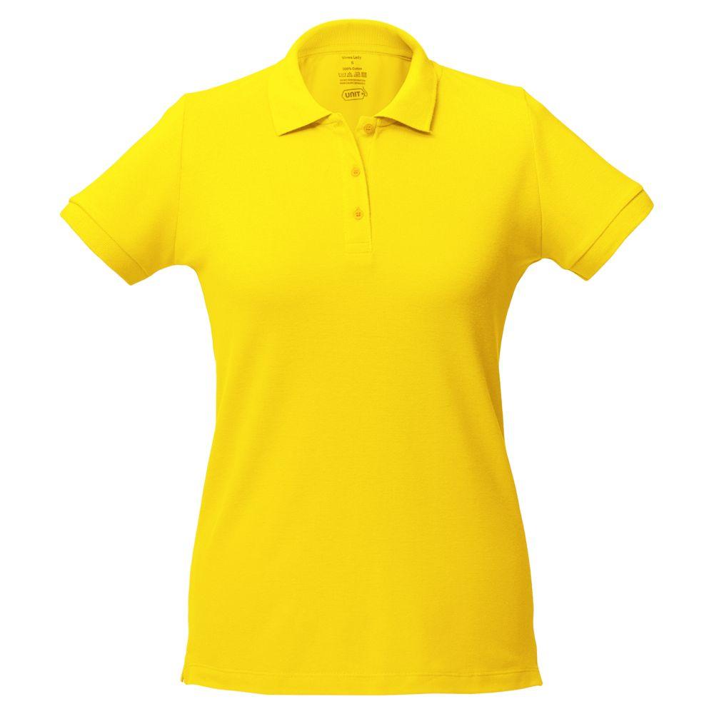 Рубашка поло женская Virma lady, желтая, размер XL
