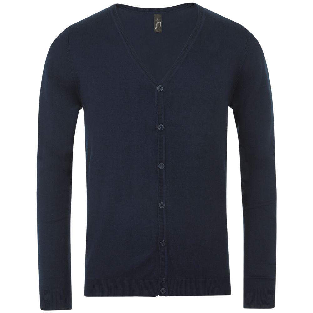 домашний комплект мужской vienetta s secret первый брюки кофта цвет темно синий 703003 0000 размер m 46 Кардиган мужской GRIFFITH темно-синий, размер S
