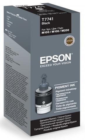 Контейнер с черными чернилами Epson T7741 для M100, M200, M105 (C13T77414A)