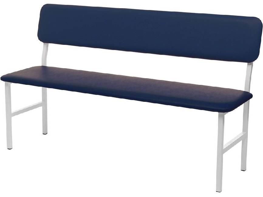 Банкетка медицинская со спинкой Hilfe МД БС синяя