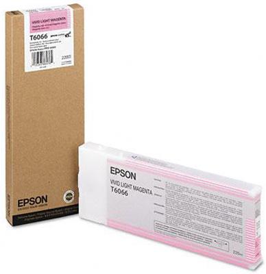 Фото - Epson T6066 Vivid Light Magenta 220 мл (C13T606600) epson t8003 vivid magenta 700 мл c13t800300