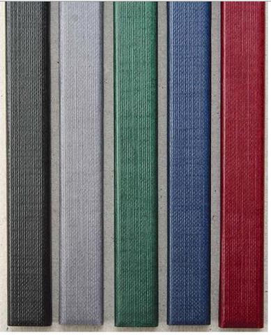 Фото - Цветные каналы с покрытием «ткань» O.CHANNEL SLIM А4 304 мм 13 мм, серый hatber бизнес блокнот лайт majestic 128 листов в клетку цвет серый 44350