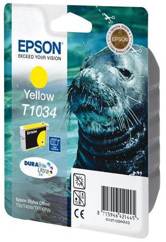 Картридж экстраповышенной емкости с желтыми чернилами Epson T1034 (C13T10344A10)