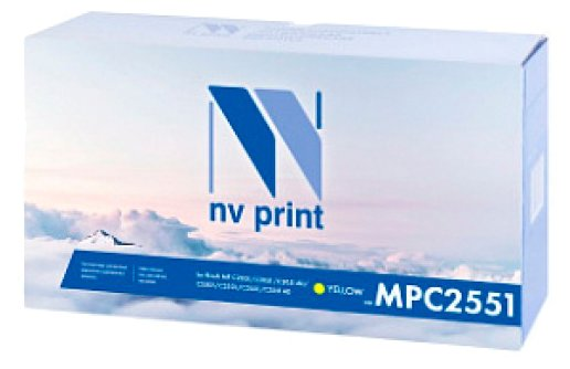Картридж NVP MP C2551Y картридж nvp mp c2551c