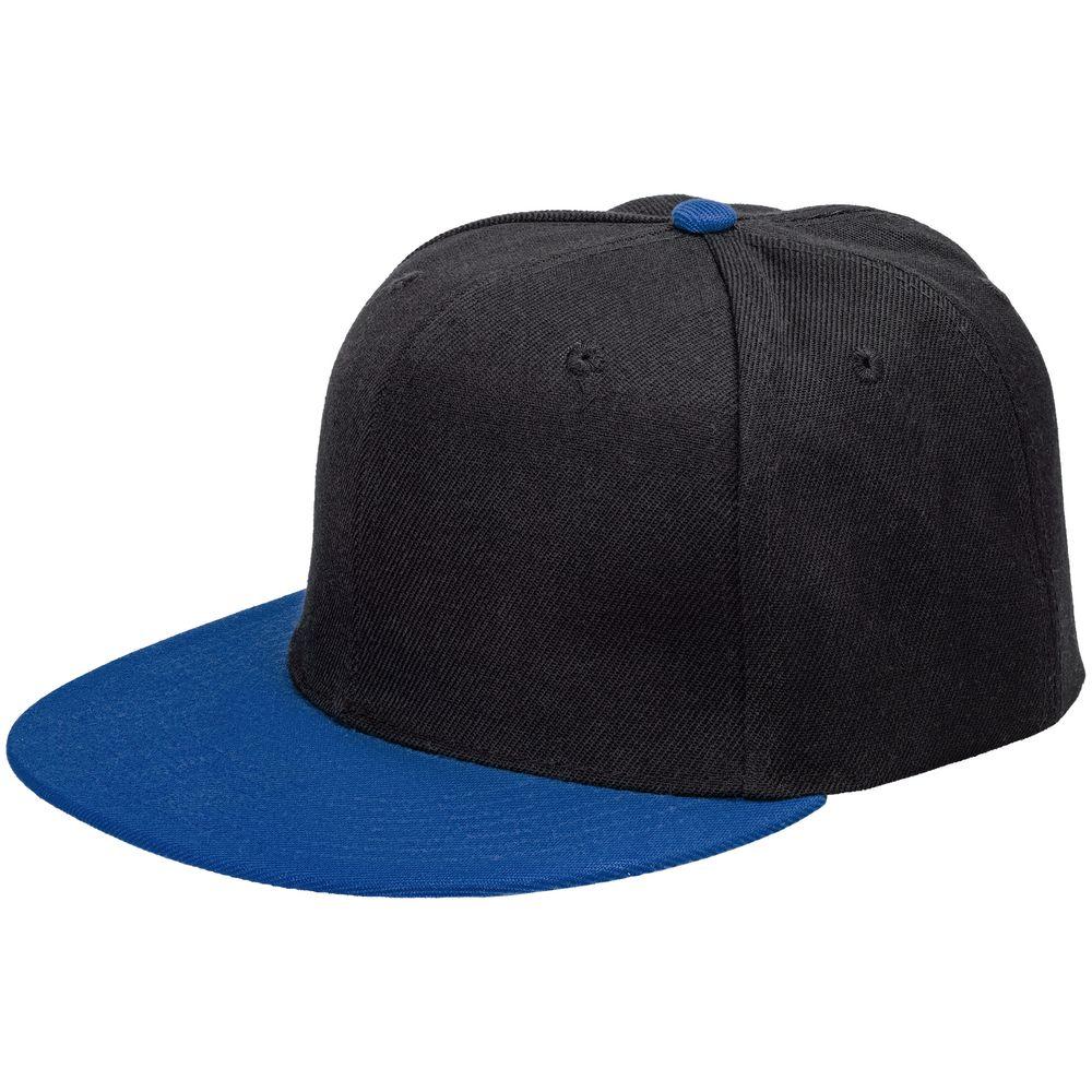 Бейсболка Ben Hope с прямым козырьком, черная с синим бейсболка с прямым козырьком quiksilver smorgasborg vintage indigo
