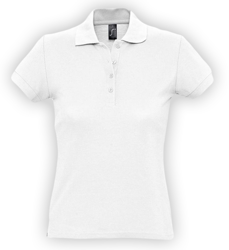 Рубашка поло женская PASSION 170 белая, размер L