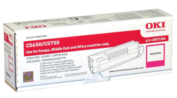 Фото - Тонер-картридж OKI TONER-M-C5650/5750-NEU (43872322 / 43872306) тонер картридж oki c5650 5750 2k yellow