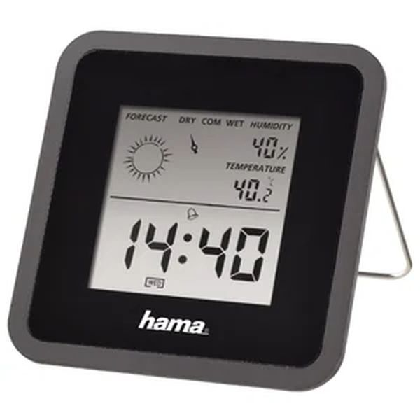 Метеостанция комнатная Hama TH50, черная