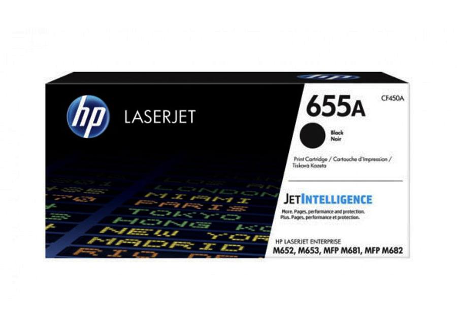 Тонер-картридж HP LaserJet 655A черный (CF450A)