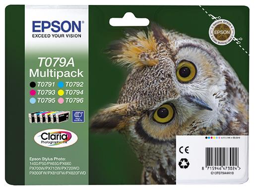 купить Набор цветных картриджей T079A (C13T079A4A10) по цене 5568 рублей