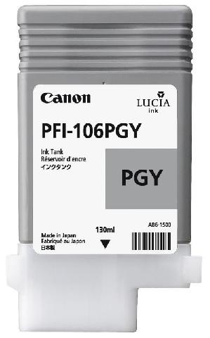 Canon PFI-106PGY Photo Gray 130 мл (6631B001) canon pfi 206pgy photo gray 300 мл 5313b001