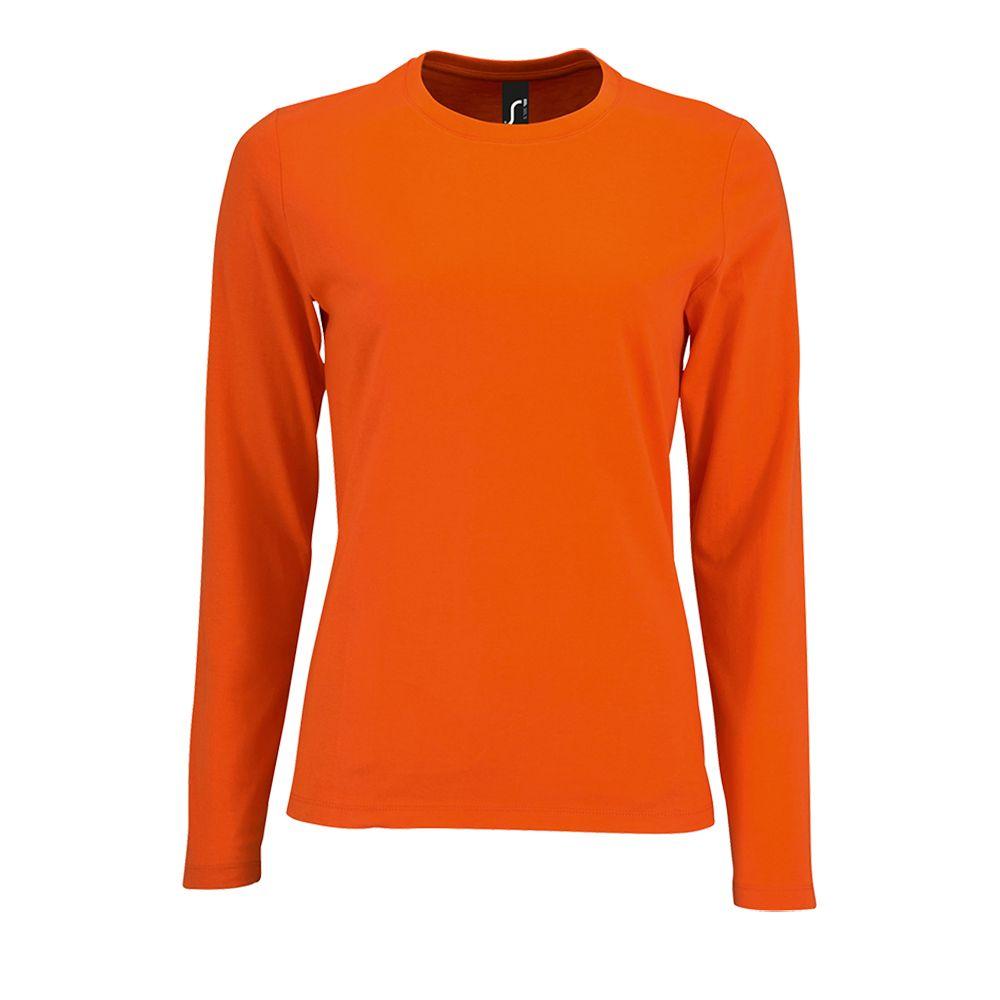 Футболка с длинным рукавом Imperial LSL Women оранжевая, размер M недорого