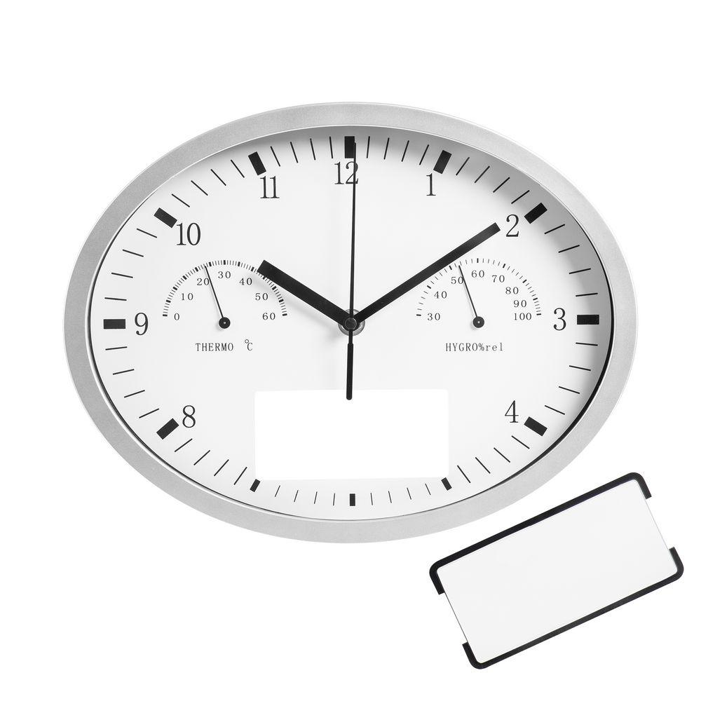 Часы настенные INSERT3 с термометром и гигрометром, белые будильник с термометром и гигрометром вега 6714