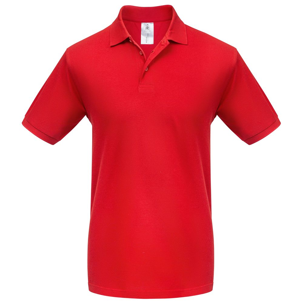 Фото - Рубашка поло Heavymill красная, размер M рубашка поло heavymill серый меланж размер xl