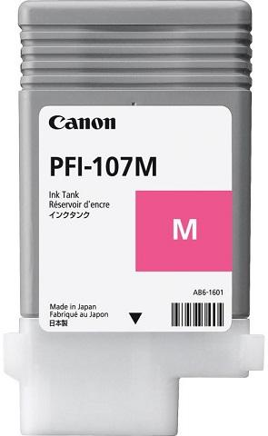 Фото - Картридж PFI-107 M (пурпурный), 90 мл pfi 710 mbk matte black 700 мл 2353c001