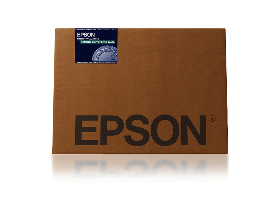 Epson Enhanced Matte Poster Board 850г/м2, 24x30, 10 листов (C13S041598) мелованный картон app c2s art board delight gloss 310 г м2 45x32 см 100 листов