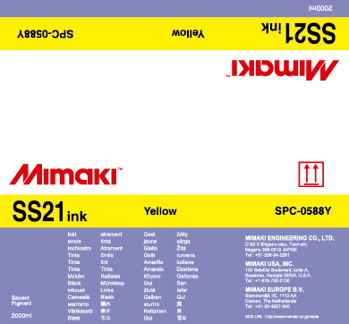 Чернила SS21 Solvent Bulk Yellow good quality 4 with 4 bulk ink supply system ink tank supply system for mimaki roland mutoh eco solvent printer machine