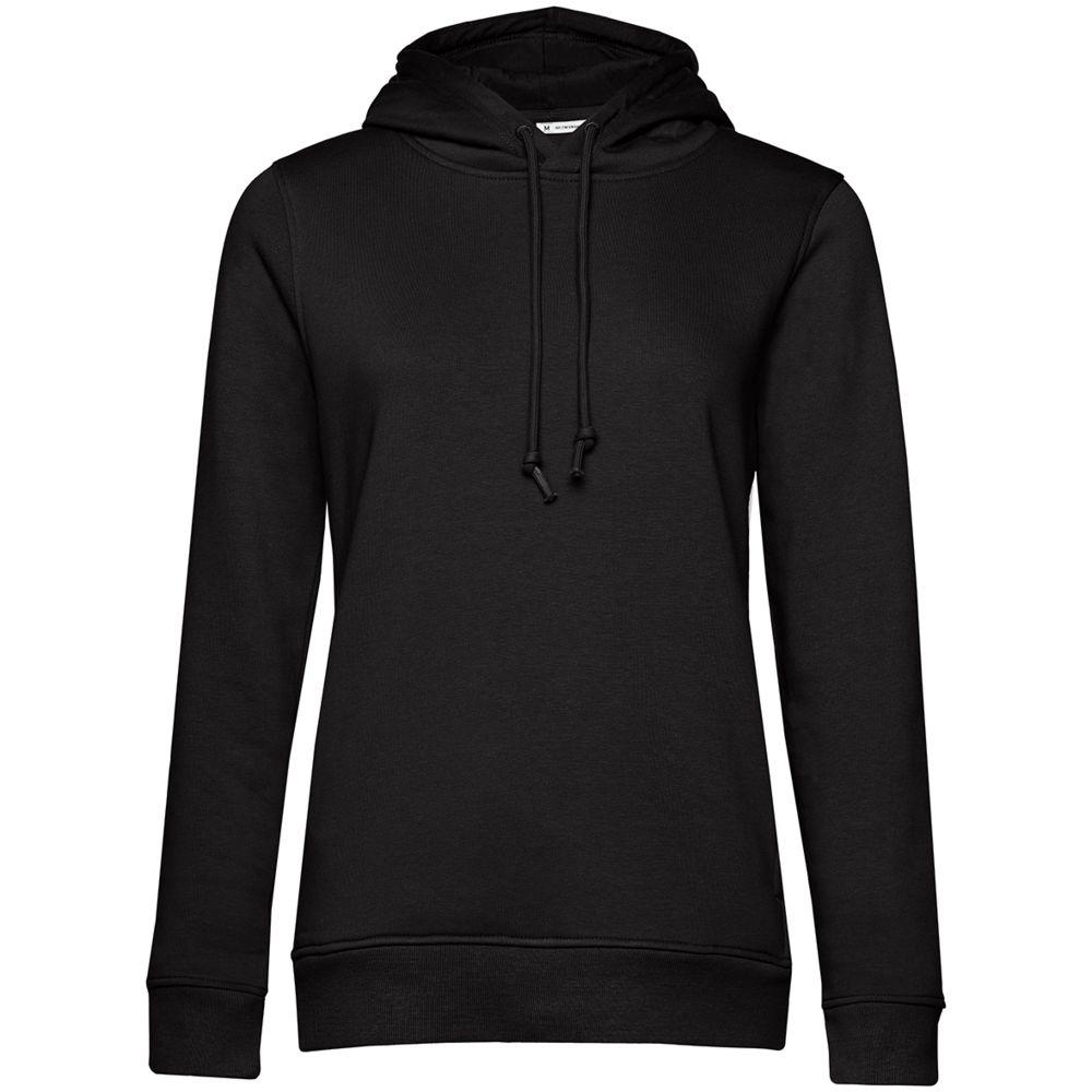 Толстовка с капюшоном женская BNC Organic, черная, размер XL