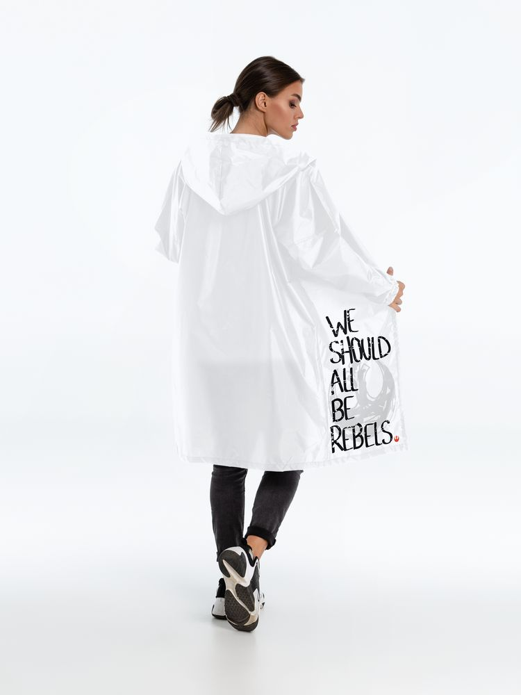 Дождевик Rebels, белый, размер L
