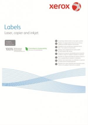 Xerox наклейки бумажные Laser/Copier (65) 003R93177