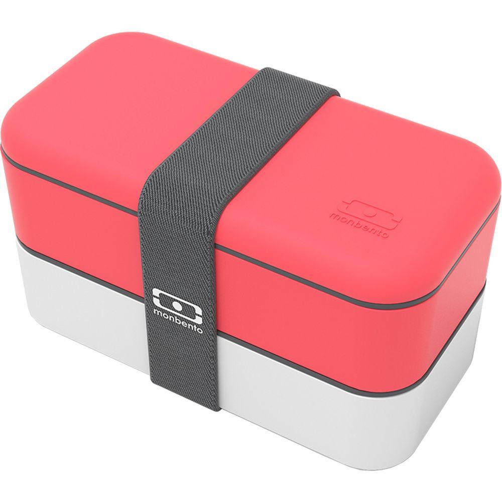 Ланчбокс MB Original, розовый коралл с белым