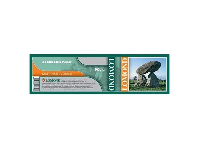 Фото - Lomond XL CAD&GIS Paper 90 г/м2, 0.914x90 м, 50.8 мм (1214104) легкодоступное железо джентл айрон 90 капсул solgar минералы