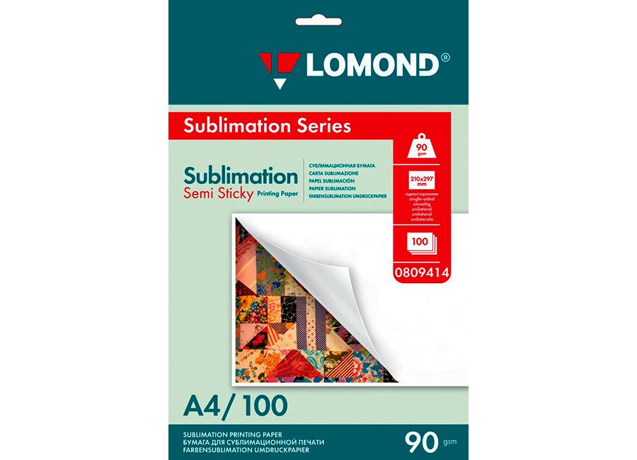 Сублимационная бумага Lomond Semi Sticky Sublimation Transfer A4, 90 г/м2, 100 листов (0809414)