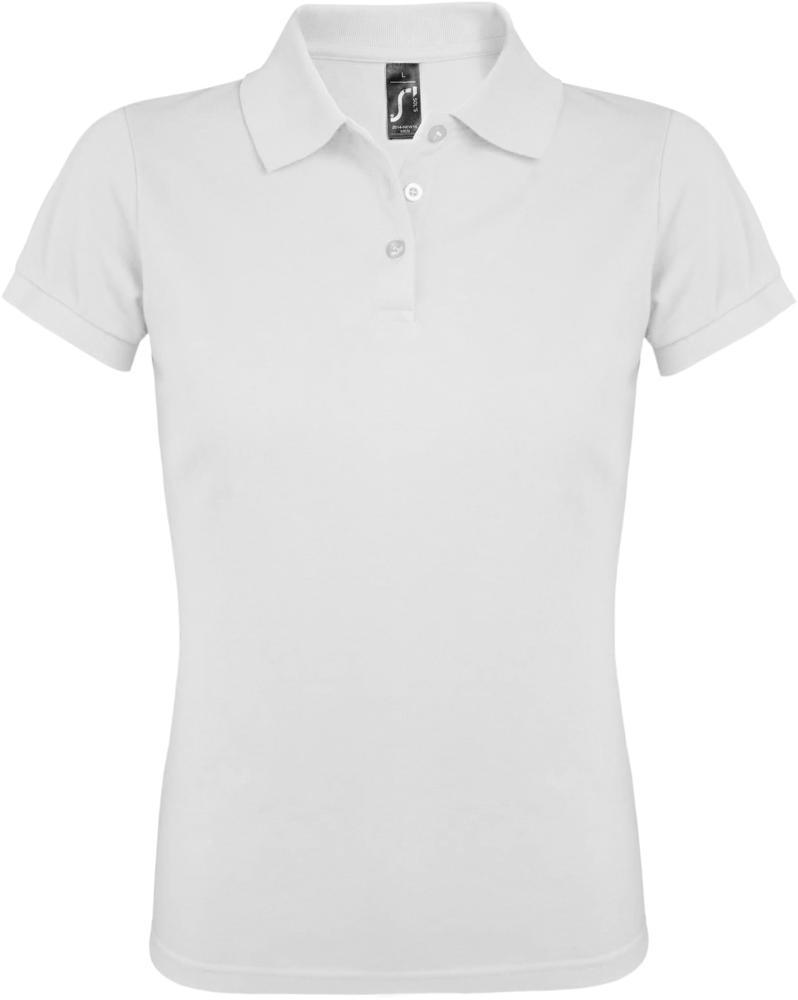 Рубашка поло женская PRIME WOMEN 200 белая, размер S фото