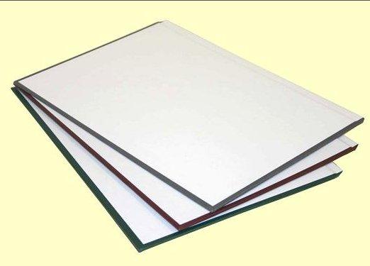 Твердые обложки O.HARD COVER Classic 217x300 мм с покрытием «ткань» без окна альбомные с белым форзацем, бордо