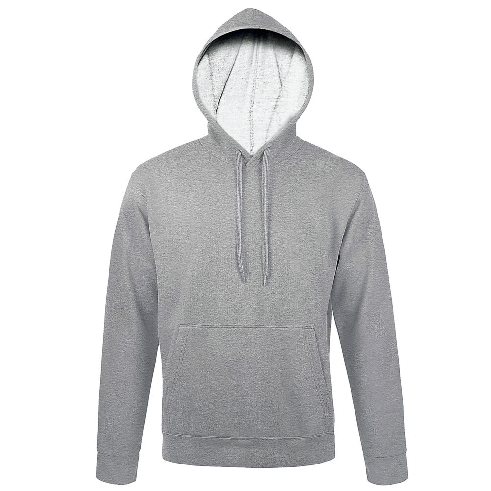 цена Толстовка с капюшоном SNAKE II серый меланж, размер 4XL онлайн в 2017 году