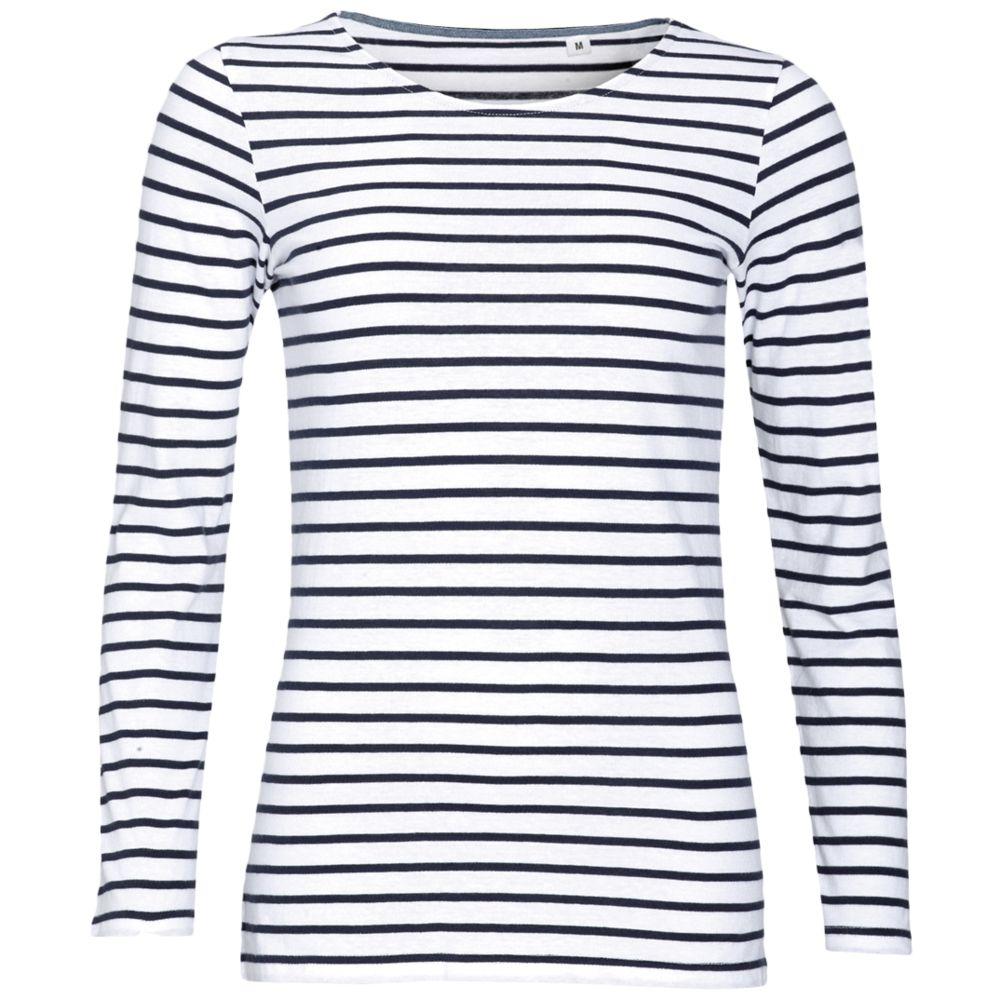 Футболка женская MARINE WOMEN, белый/темно-синий, размер XXL футболка женская marine women белый красный размер xs