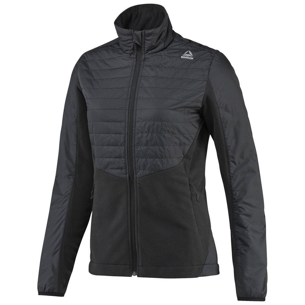 Куртка женская Outdoor Combed Fleece, черная, размер L