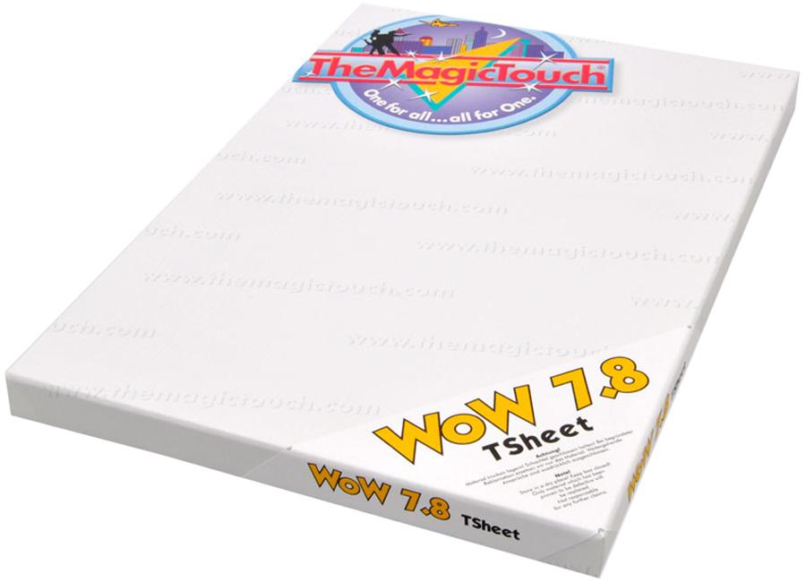 WoW 7.8/50 Tsheet A3 (Термотрансферная бумага для черного и темного текстиля) touch бумага для рисования marker pad a3 10 л