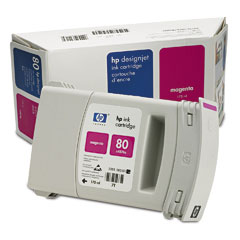 HP Inkjet Cartridge №80 Magenta (C4874A) hp bright white inkjet paper q1445a