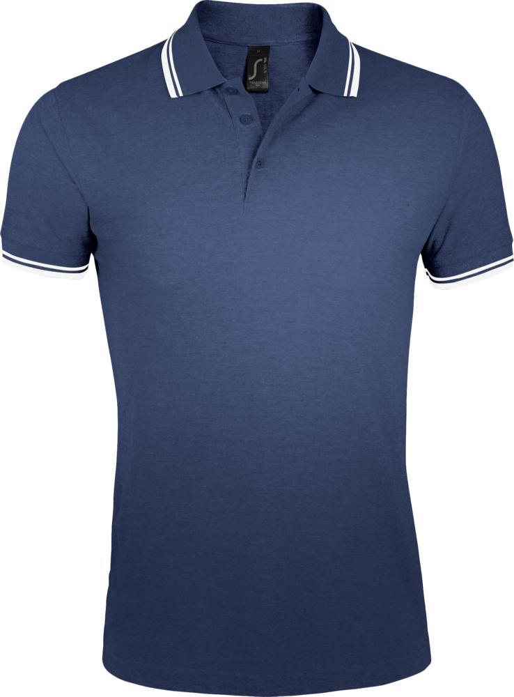 Фото - Рубашка поло женская PASADENA WOMEN 200 с контрастной отделкой темно-синяя с белым, размер XXL рубашка поло женская pasadena women 200 с контрастной отделкой черный зеленый размер xxl
